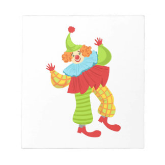 Colorful Friendly Clown In Ruffle To Classic Outfi Notepad