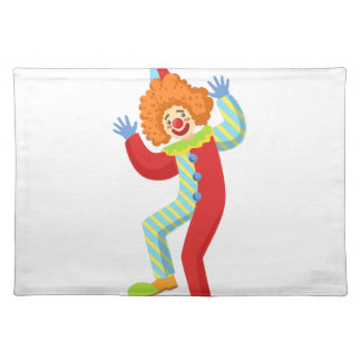 Colorful Friendly Clown Performing In Classic Outf Placemat