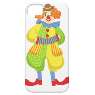 Colorful Friendly Clown Playing Accordion In Class Barely There iPhone 5 Case