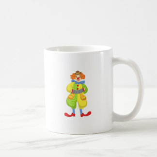 Colorful Friendly Clown Playing Accordion In Class Coffee Mug