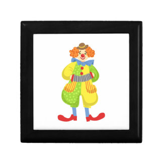 Colorful Friendly Clown Playing Accordion In Class Gift Box