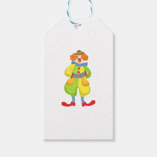 Colorful Friendly Clown Playing Accordion In Class Gift Tags