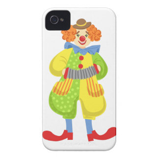 Colorful Friendly Clown Playing Accordion In Class iPhone 4 Cover