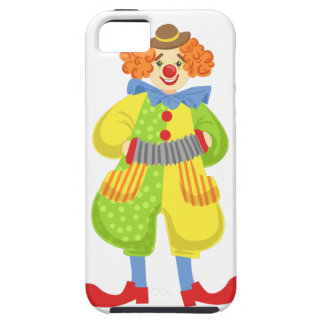 Colorful Friendly Clown Playing Accordion In Class iPhone 5 Case