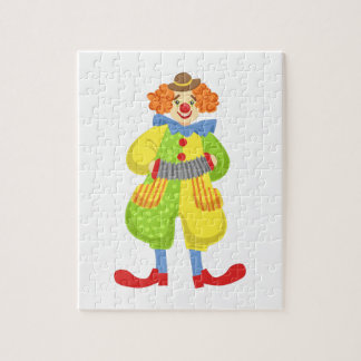 Colorful Friendly Clown Playing Accordion In Class Jigsaw Puzzle