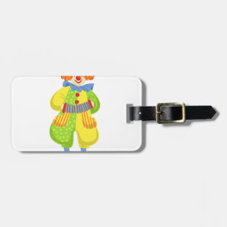 Colorful Friendly Clown Playing Accordion In Class Luggage Tag