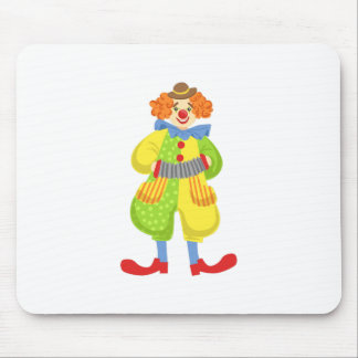 Colorful Friendly Clown Playing Accordion In Class Mouse Pad