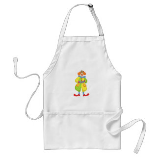 Colorful Friendly Clown Playing Accordion In Class Standard Apron