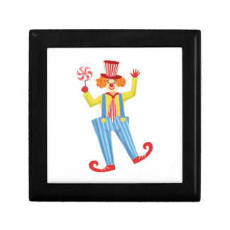 Colorful Friendly Clown With Lollypop In Classic O Gift Box