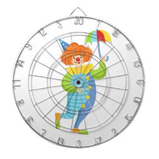Colorful Friendly Clown With Mini Umbrella Dartboard