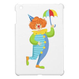 Colorful Friendly Clown With Mini Umbrella iPad Mini Covers