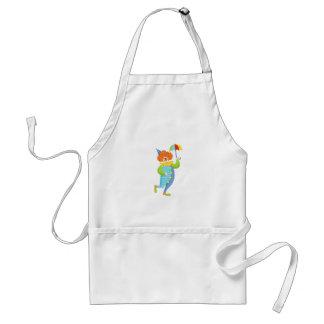 Colorful Friendly Clown With Mini Umbrella Standard Apron