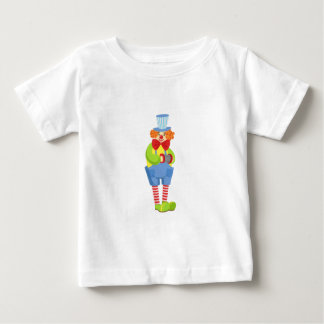 Colorful Friendly Clown With Miniature Accordion I Baby T-Shirt