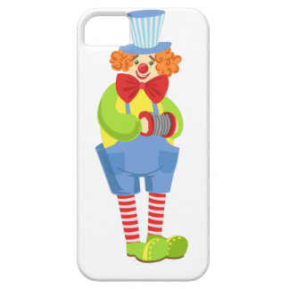 Colorful Friendly Clown With Miniature Accordion I Barely There iPhone 5 Case