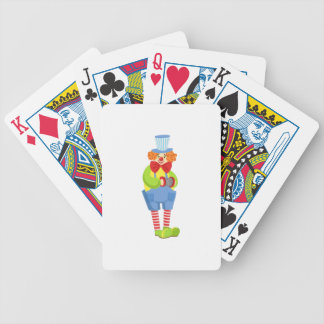 Colorful Friendly Clown With Miniature Accordion I Bicycle Playing Cards