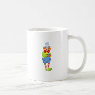 Colorful Friendly Clown With Miniature Accordion I Coffee Mug