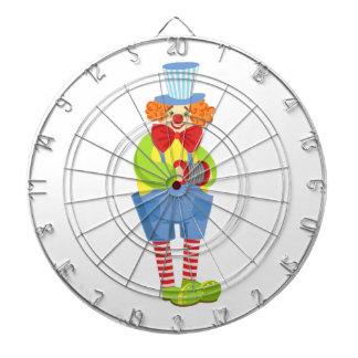 Colorful Friendly Clown With Miniature Accordion I Dartboard