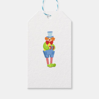 Colorful Friendly Clown With Miniature Accordion I Gift Tags