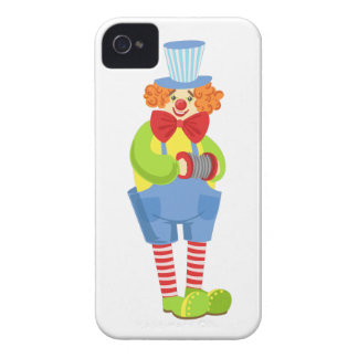 Colorful Friendly Clown With Miniature Accordion I iPhone 4 Case-Mate Case