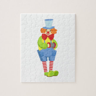 Colorful Friendly Clown With Miniature Accordion I Jigsaw Puzzle