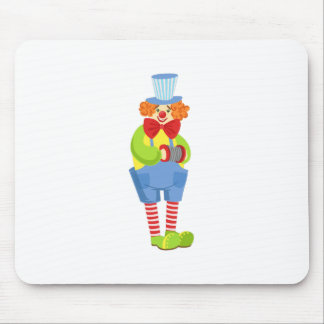 Colorful Friendly Clown With Miniature Accordion I Mouse Pad