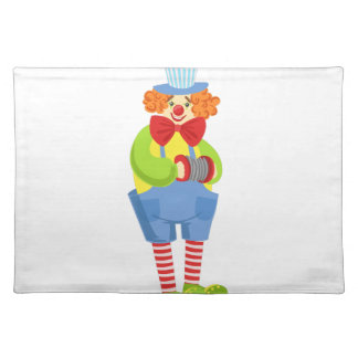 Colorful Friendly Clown With Miniature Accordion I Placemat