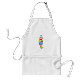 Colorful Friendly Clown With Miniature Accordion I Standard Apron