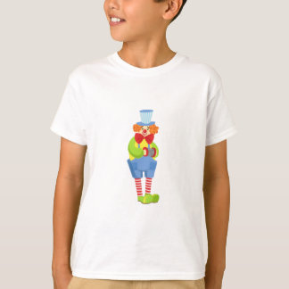 Colorful Friendly Clown With Miniature Accordion I T-Shirt