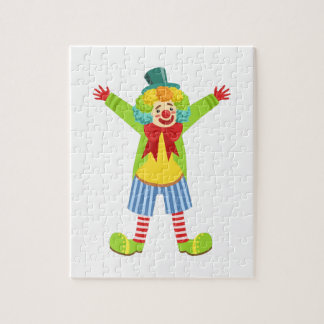 Colorful Friendly Clown With Multicolor Jigsaw Puzzle