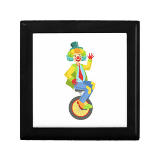 Colorful Friendly Clown With Rainbow Wig In Classi Gift Box