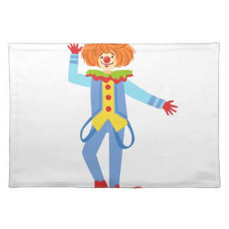 Colorful Friendly Clown With Suspenders In Classic Placemat