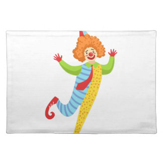 Colorful Friendly Clown With Tie In Classic Outfit Placemat