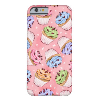 Colorful Frosted Cupcakes Pattern Barely There iPhone 6 Case