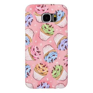 Colorful Frosted Cupcakes Pattern Samsung Galaxy S6 Cases