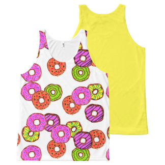 colorful frosted donuts doughnut with sprinkles All-Over print singlet