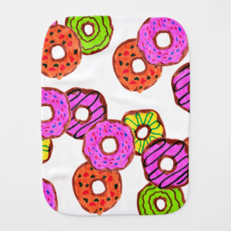 colorful frosted donuts doughnut with sprinkles burp cloth