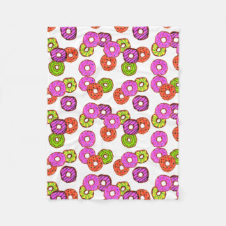 colorful frosted donuts doughnut with sprinkles fleece blanket