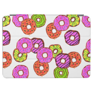 colorful frosted donuts doughnut with sprinkles iPad air cover