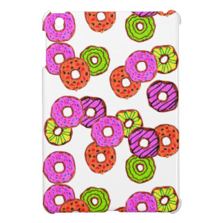 colorful frosted donuts doughnut with sprinkles iPad mini cover