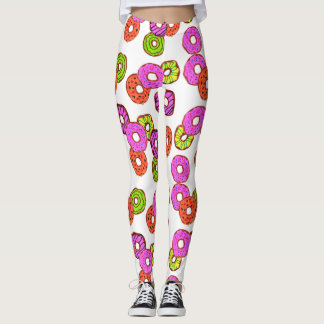 colorful frosted donuts doughnut with sprinkles leggings