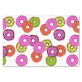 colorful frosted donuts doughnut with sprinkles tissue paper