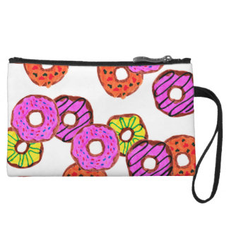 colorful frosted donuts doughnut with sprinkles wristlet