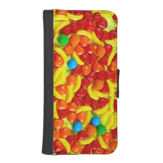 Colorful fruit candy iphone wallet case phone wallet