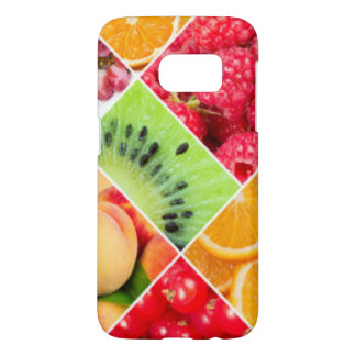 Colorful Fruit Collage Pattern Design