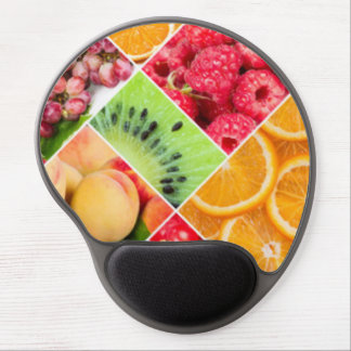 Colorful Fruit Collage Pattern Design Gel Mouse Pad