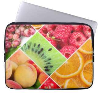 Colorful Fruit Collage Pattern Design Laptop Sleeve