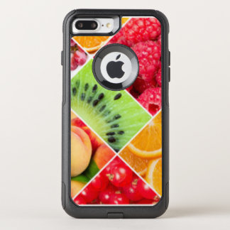 Colorful Fruit Collage Pattern Design OtterBox Commuter iPhone 8 Plus/7 Plus Case