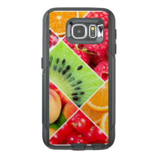 Colorful Fruit Collage Pattern Design OtterBox Samsung Galaxy S6 Case