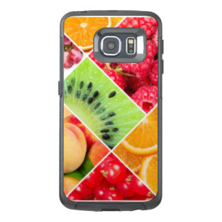 Colorful Fruit Collage Pattern Design OtterBox Samsung Galaxy S6 Edge Case