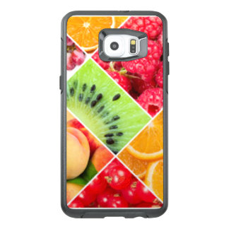Colorful Fruit Collage Pattern Design OtterBox Samsung Galaxy S6 Edge Plus Case
